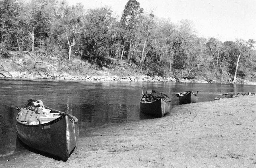 River Photograph - Kerr Lake Canoes by Steven Crown