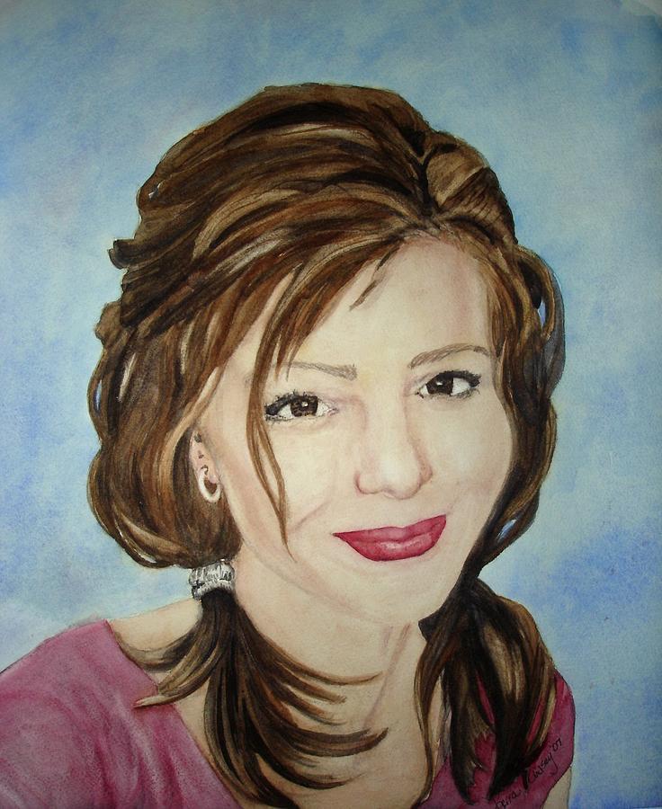 Artist Painting - Kerra Lindsey  Self Portrait by Kerra Lindsey