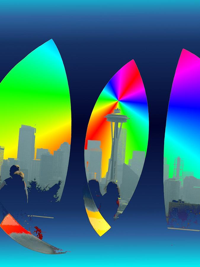 Seattle Digital Art - Kerry Needle 3 by Tim Allen