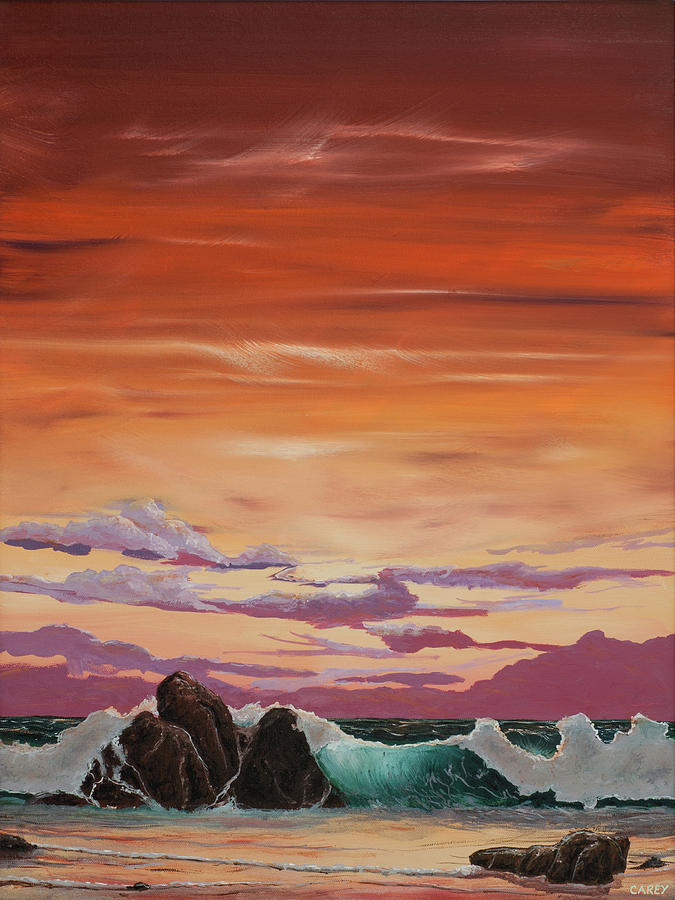 Kerry Sunset Painting by Sheila Carey