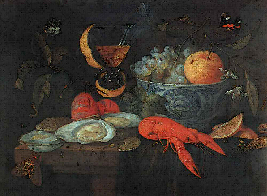 Kessel Jan Van Still Life With Fruit And Shellfish Digital Art by ...