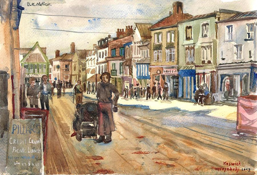 England Painting - Keswick Town England. by Hopebaby Pradit