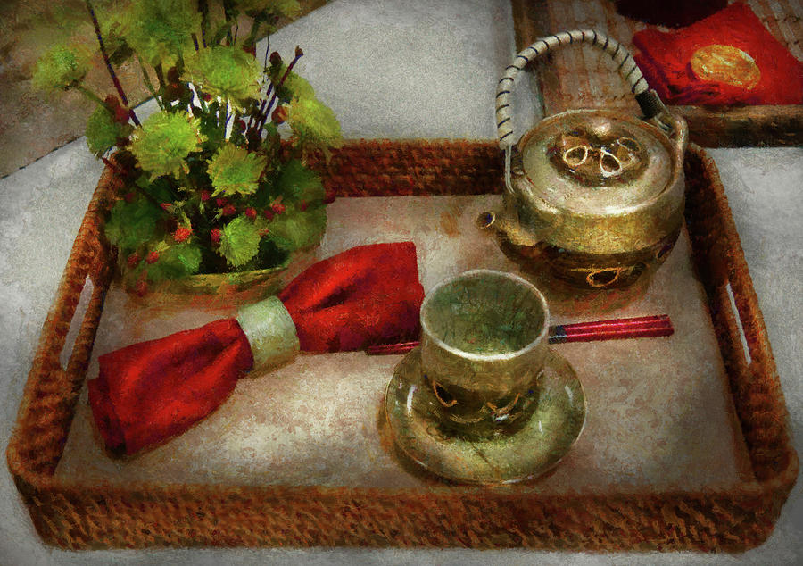 Framed Photograph - Kettle - Formal Tea Ceremony by Mike Savad