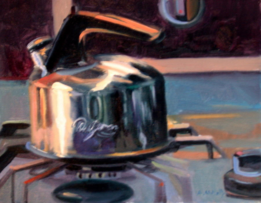 Still Life Painting - Kettle by Anne McNally