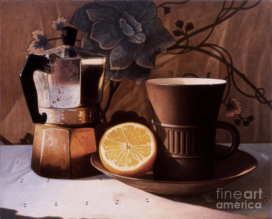 Aceo Painting - Kettle Cup And Saucer by Daniel Montoya