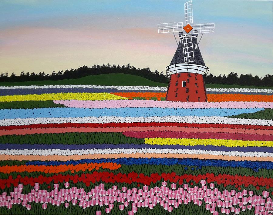 Keukenhof Garden 2 Painting By Sonal Poghat