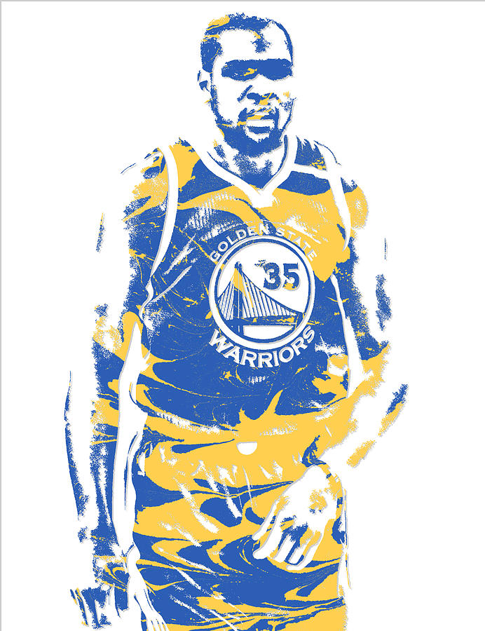 Kevin Durant Golden State Warriors Pixel Art 17 Mixed