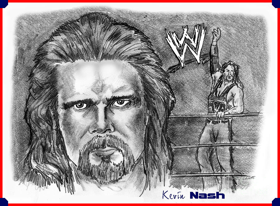 Kevin Nash Drawing - Kevin Nash Outsider by Chris  DelVecchio