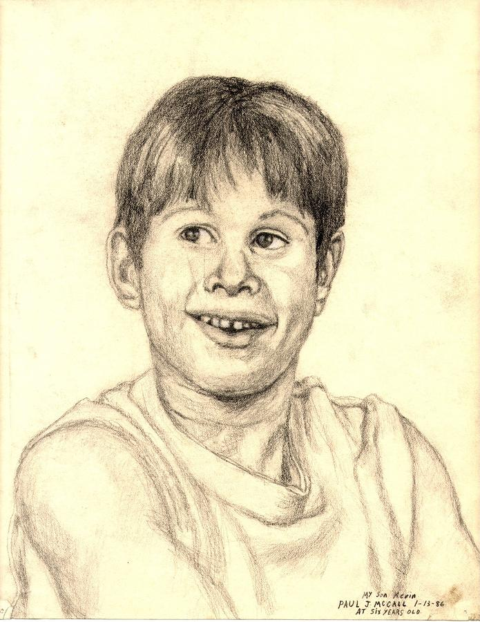 Drawing Drawing - Kevin by Paul McCall