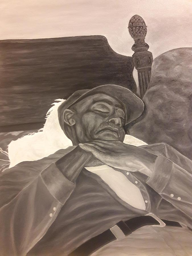 Portrait Painting - Kevins Great Grandfather by Arron Kirkwood