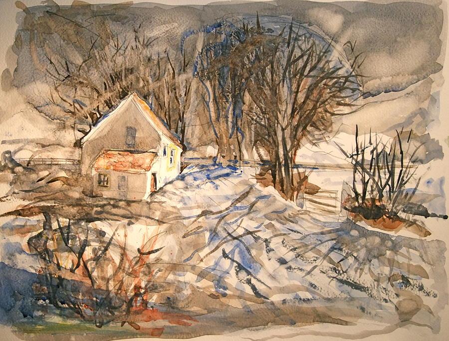 Kevs Barn Painting by Mike Shepley DA Edin