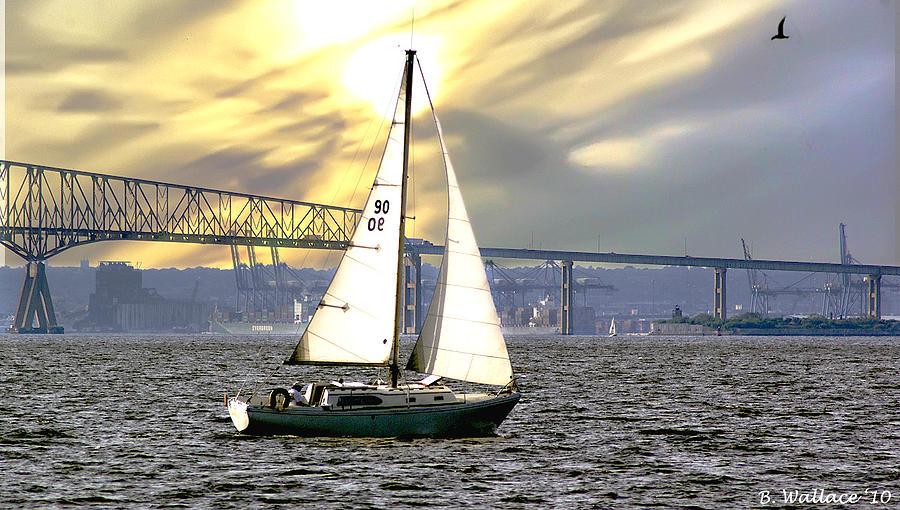 2d Photograph - Key Bridge by Brian Wallace