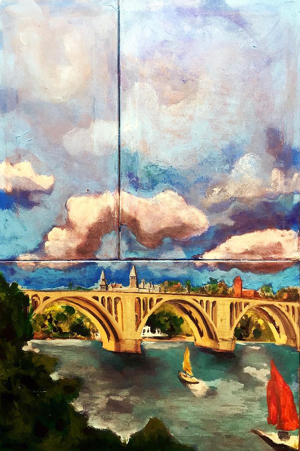 Key Bridge on the Potomac by Dilip Sheth