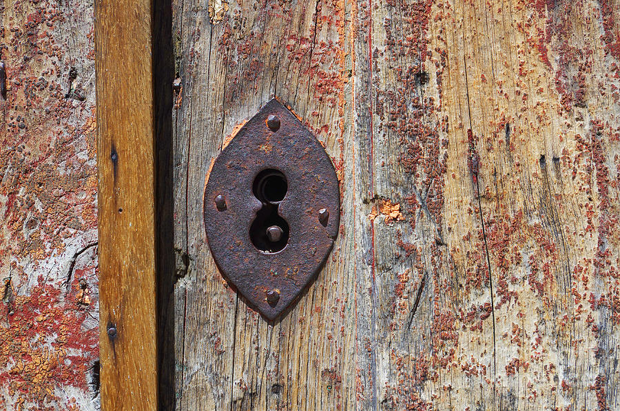 Abstract Photograph - Key Hole by Carlos Caetano