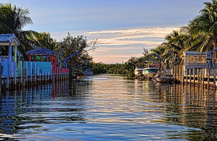Key Largo Photograph - Key Largo Canal by Chris Thaxter