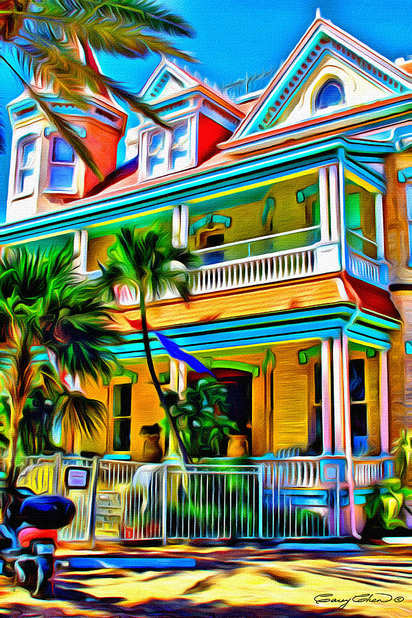 Key West Digital Art - Key west colors by Anthony C Chen