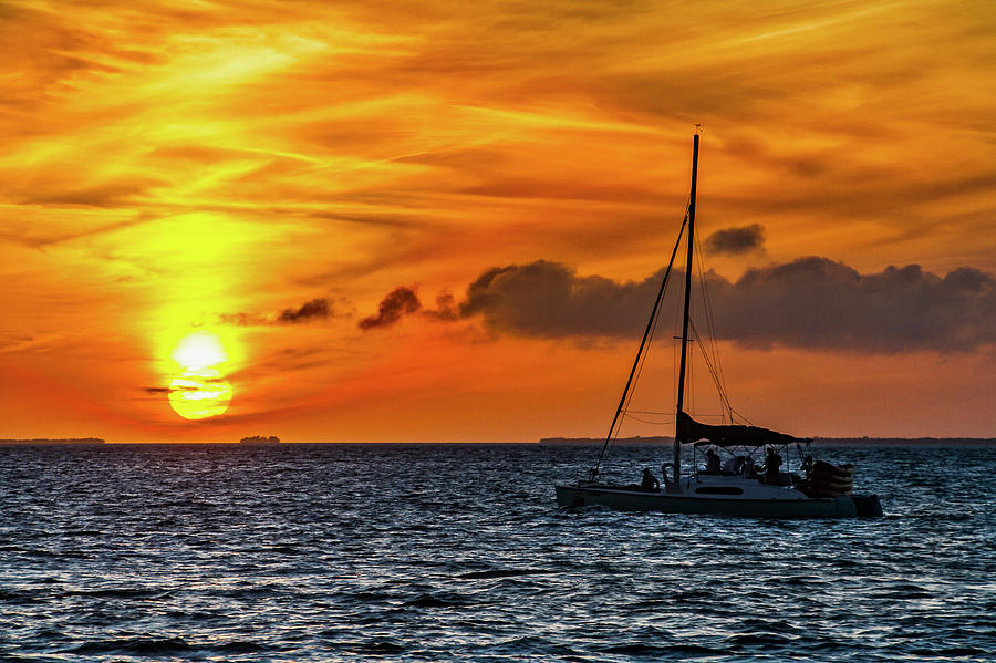 Key West Double Sun Sunset by Bob Slitzan