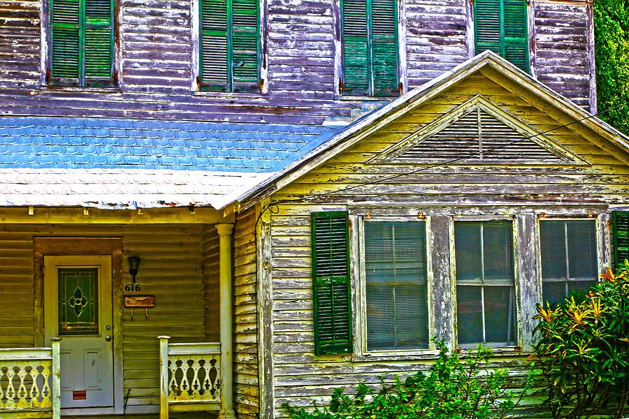 Key West Photograph - Key West Florida Clapboard Home by Lee Vanderwalker