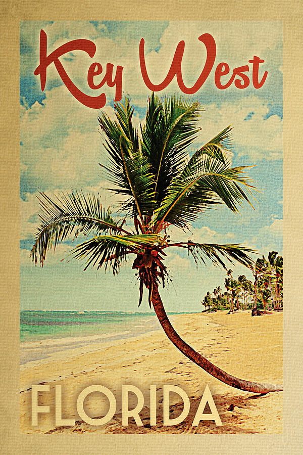 Key West Digital Art - Key West Florida Palm Tree by Flo Karp