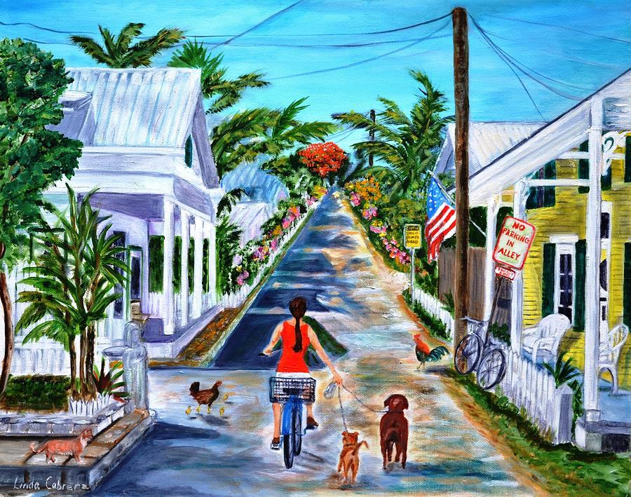 Key West Lane by Linda Cabrera