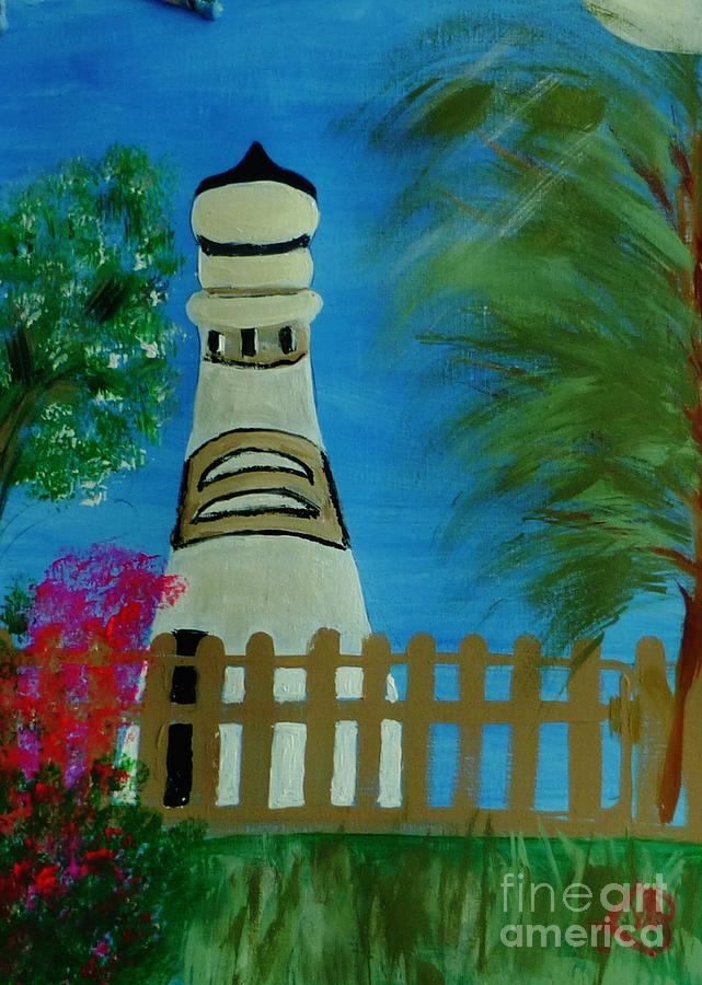 Landscape Painting - Key West Lighthouse by Marie Bulger