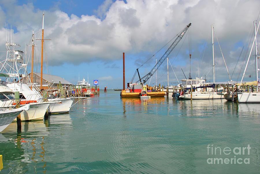 Boat Photograph - Key West Marina by Jost Houk