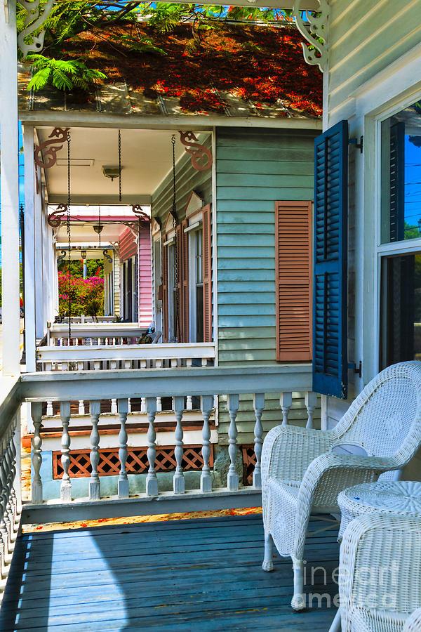 Porches Photograph - Key West Porches by C W Hooper