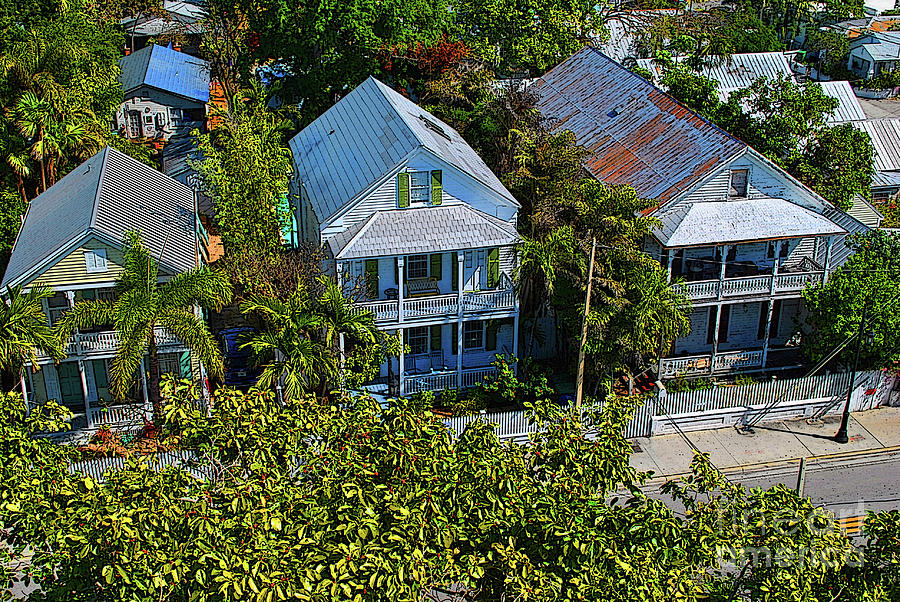 Key West Photograph - Key West Roof Tops by Jost Houk