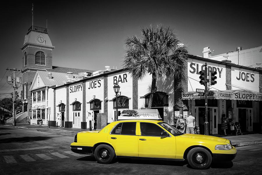 America Photograph - Key West Sloppy Joes Bar And Traffic by Melanie Viola