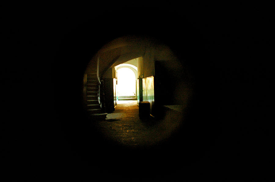 Keyhole Photograph - Keyhole View In Lvov by Katarzyna Horwat