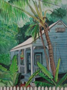 Keys House Painting by Mary Hollinger