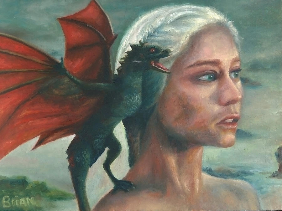 Game Of Thrones Painting - Khaleesi and Child by Brian Nunes
