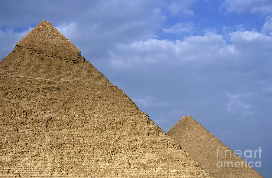 Africa Photograph - Khephren Pyramid And The Great Pyramid by Sami Sarkis