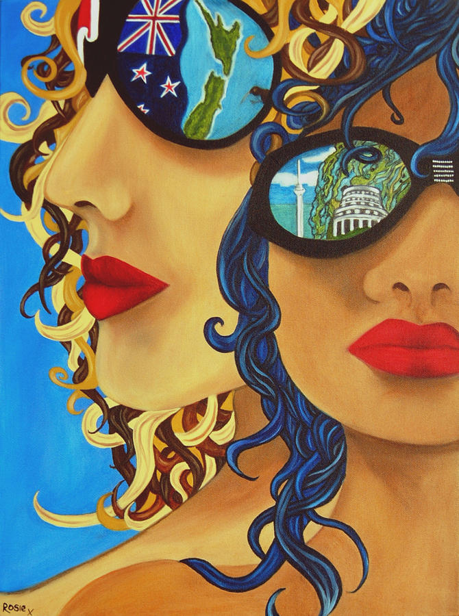 New Zealand Painting - Kia Ora by Rosie Harper