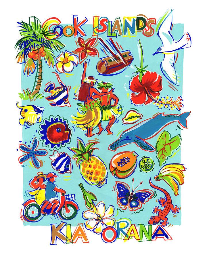 Kia Orana Cook Islands Painting by Judith Kunzle