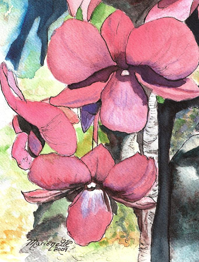 Orchid Painting - Kiahuna Orchids by Marionette Taboniar