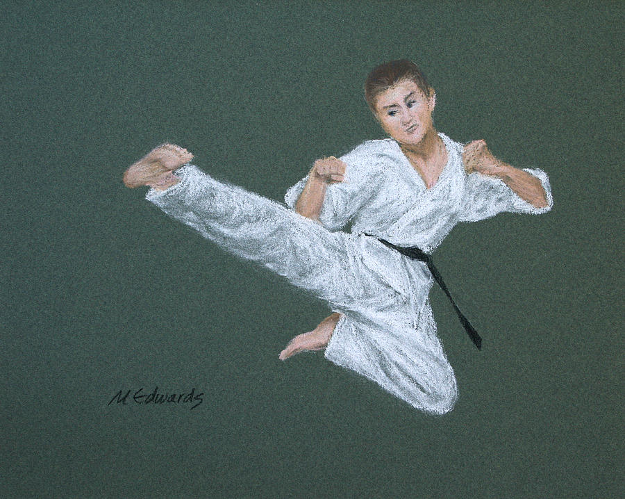 Kick Pastel - Kick Fighter by Marna Edwards Flavell