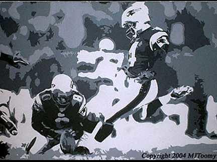 Football Painting - Kicking Snowballs by Michael James Toomy