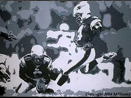 Football Painting - Kickins Snowballs Commissioned Portrait by Michael James  Toomy