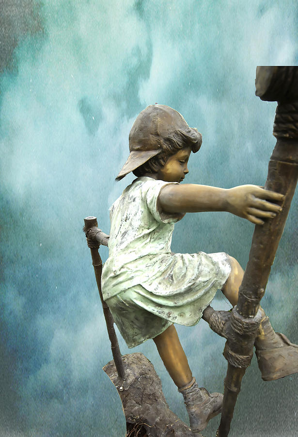Statue Photograph - Kid 13 by Dale Stillman