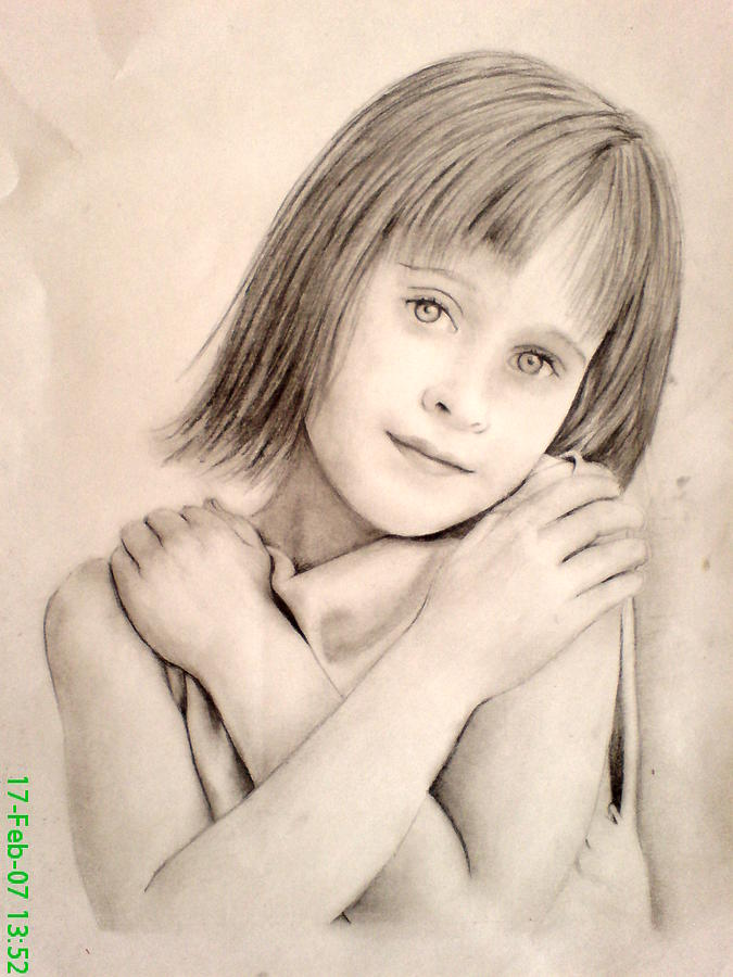 Kids Drawing - Kid by Vishal Mane