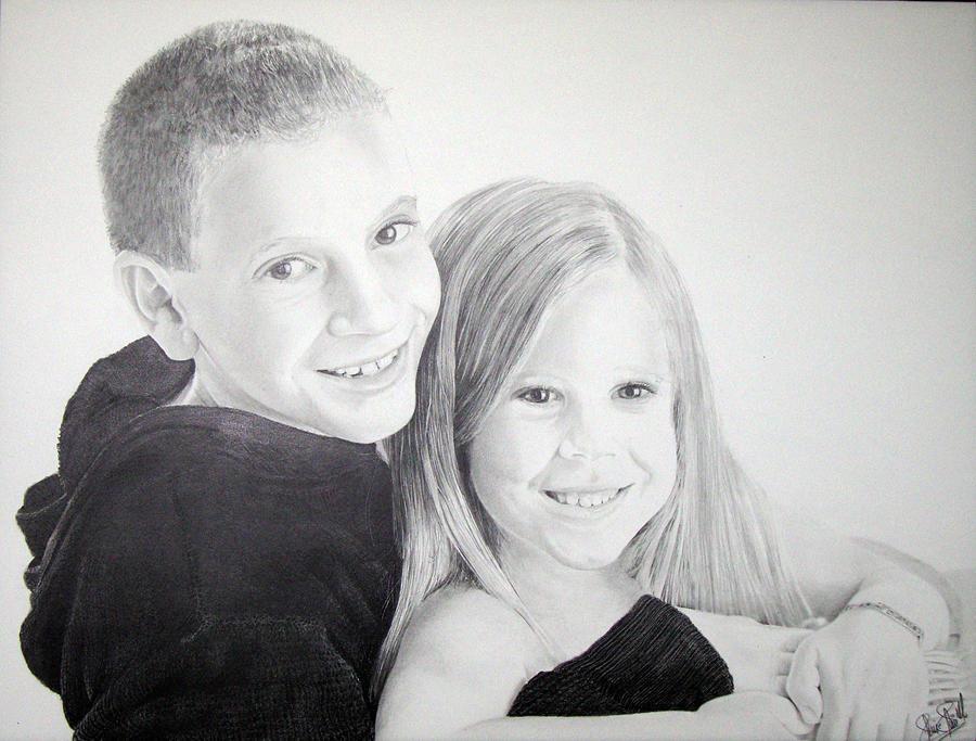 Kids Drawing - Kids by Felipe Galindo