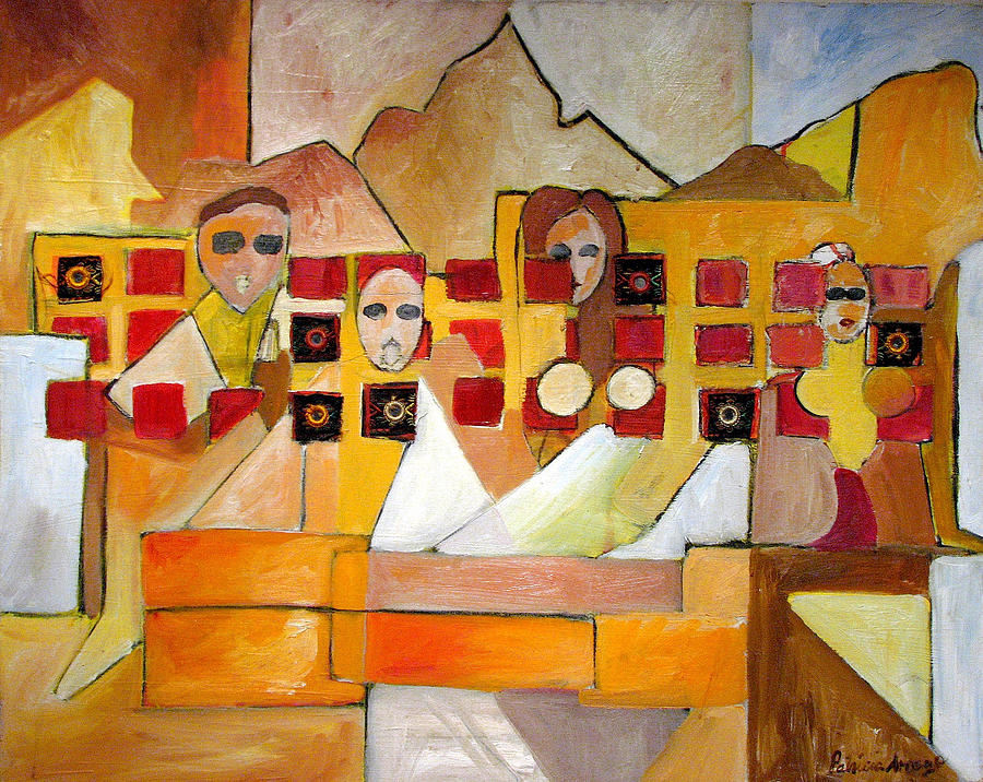 Abstract Painting - Kids In Venice by Patricia Arroyo