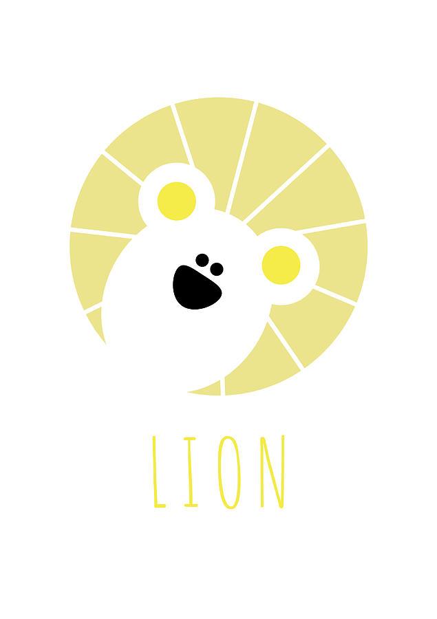 Lion Digital Art - Kids Lion Poster by Chris Campbell