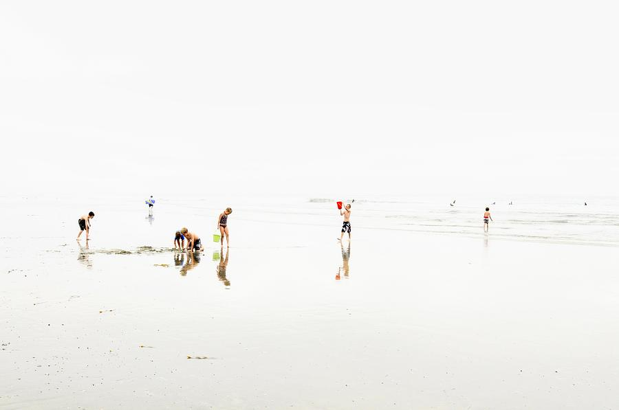 Kids On The Beach 1 by Richard Omura