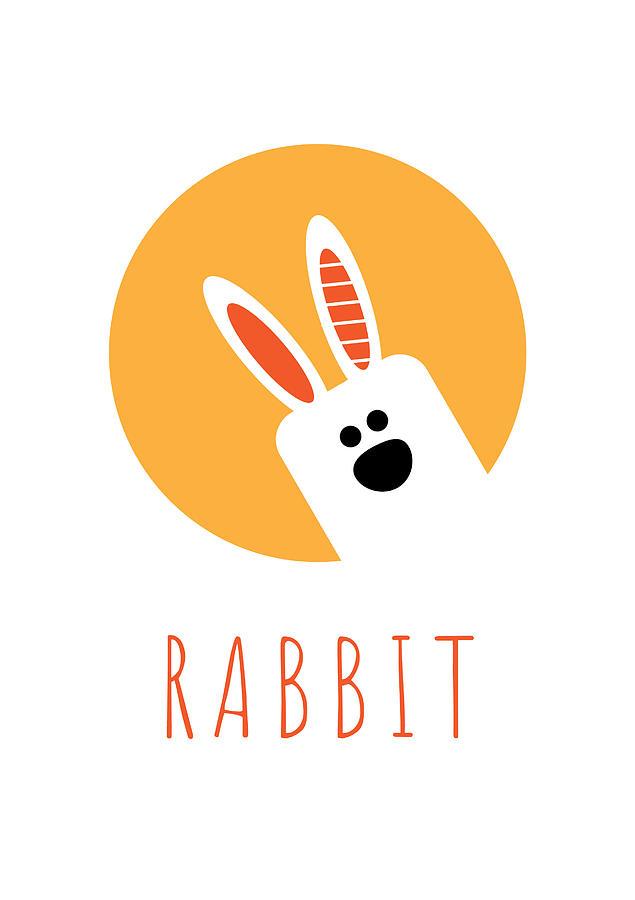 Rabbit Digital Art - Kids Rabbit Poster by Chris Campbell