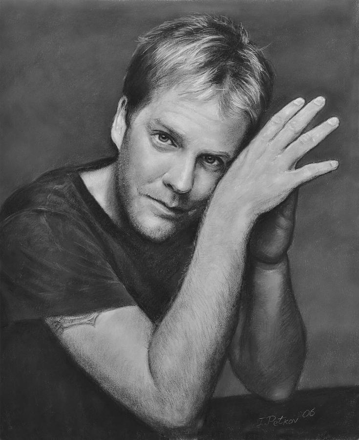 Portraits Drawing - Kiefer Sutherland by Iliyan Bozhanov