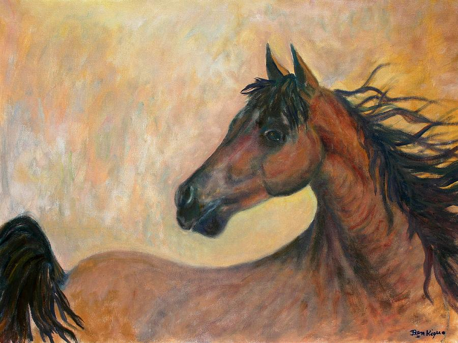 Horse Painting - Kiger Mustang by Ben Kiger