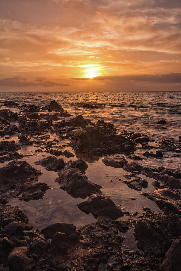 Beach Photograph - Kihei Sunset 2 - Maui Hawaii by Brian Harig