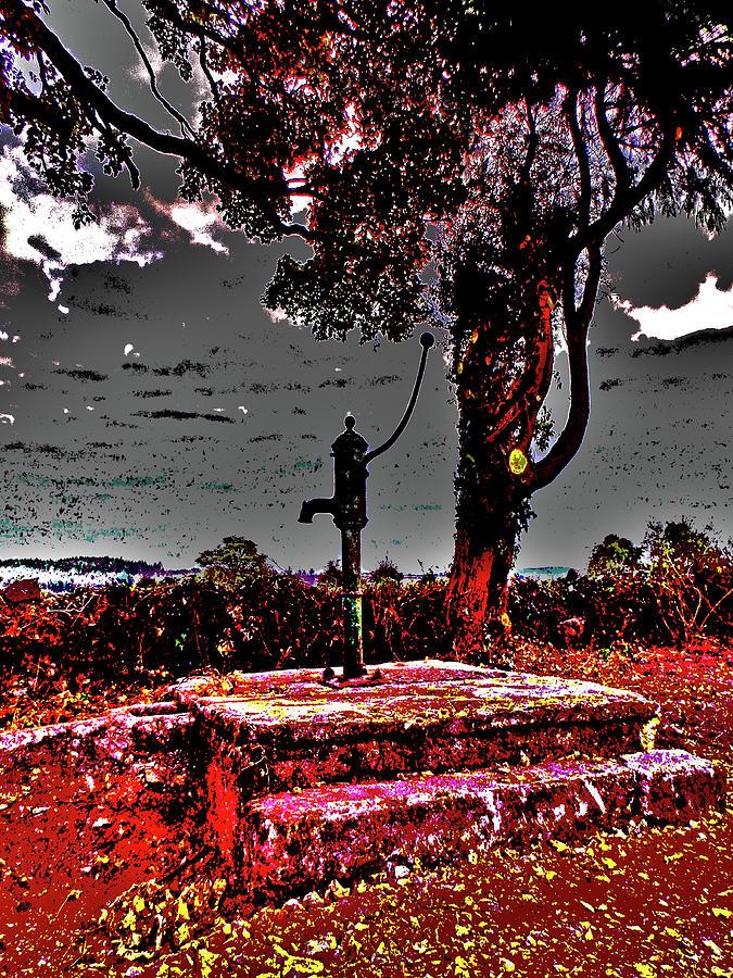 Countryside Digital Art - Kilkeasy Water Well, Evening Time by Zsuzsanna Szabo